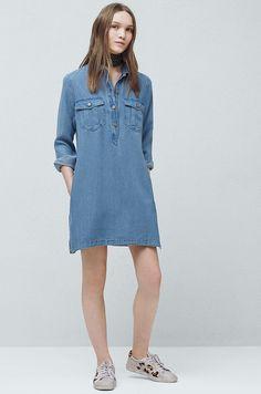 Mango - Sukienka koszulowa z jeansu Lou