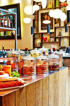 In the morning, citizenM specializes in an amazing breakfast buffet spread (think mini frittatas and croissants). #Jetsetter