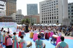 Korean American celebration Korean American, Times Square, Celebration, Street View, Asian