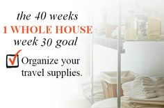 40 Weeks - 1 Whole House: Week 30 Goal - Organize Your Travel Supplies | Organize 365