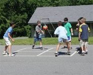 Four Square is a great playground sports game and activity for kids. We mostly played this at school during recess.