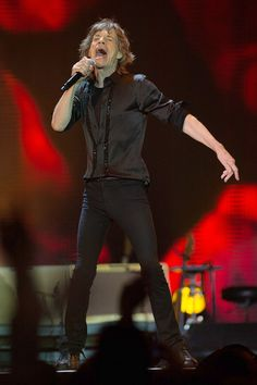 """Legendary rock n' roll band, 'The Rolling Stones' continued their world tour """"14 on fire"""" in Macau, China, March 9, 2014"""