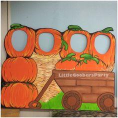 Pumpkin Patch Photo Booth Board Wooden Kids by LittleGoobersParty