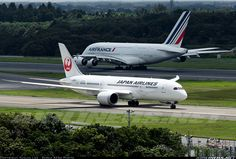 An Airbus 380 and Boeing 787 at Tokyo Narita, which one do you prefer?