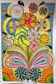 Tekenpraktijk voor kinderen en volwasssen: mandalatekenen, zentanglen, workshops. Zeer kleurrijk weblog met heel veel INSPIRATIE.
