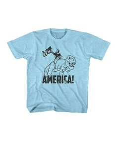 Heather Turquoise Snow 'America' Tee - Toddler & Kids