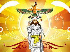Ormuz é o mestre e criador do mundo. Ele é soberano, onisciente, deus da ordem. O Sol é seu olho, o céu suas vestes bordadas de estrelas. Atar, o relâmpago, é seu cílio. Apô, as águas, são suas esposas. Ahura Mazda é o criador de outras sete divindades supremas, os Amesha Spenta, que reinam, cada um, sobre uma parte da criação e que parecem ser desdobramentos de Ahura Mazda. Assim como Ahura Mazda estava cercado por seis Amesha Spenta e de outras divindades, Angra Mainyu (Ahriman)