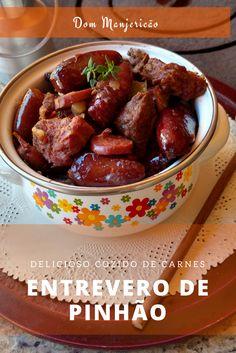 Cozido típico de pinhão com carnes da região sul do país: Entrevero de Pinhão