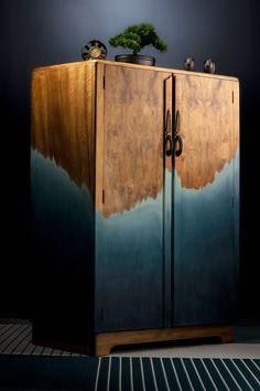 Ombre Walnut wardrobe by Patience & Gough