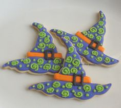 decorated witch sugar cookies - Google Search