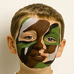 Soldier - Fun Face Paint Ideas - How to Face Paint - Snazaroo