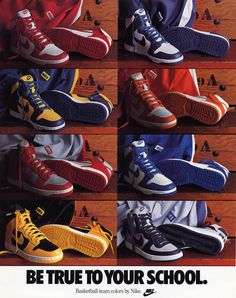 Be true to your school: Los Dunks originales, inspirados en los colores de algunos equipos de la NCCA.