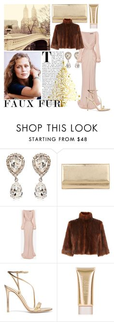 """""""Faux fur x christmas dinner"""" by bluelemon ❤ liked on Polyvore featuring Dolce&Gabbana, Lauren Hutton, Jimmy Choo, Alexander McQueen, Coast, Gianvito Rossi, Jane Iredale, Christmas and fauxfurcoats"""
