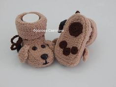 Knitting Baby Items Products 31 Ideas For 2019 Crochet Baby Boots, Knit Baby Booties, Knitted Baby, Baby Patterns, Crochet Patterns, Knitted Animals, Baby Boys, Dog Baby, Baby Knitting