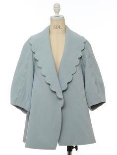 snidel / スカラップカラーコート Very sweet jacket.
