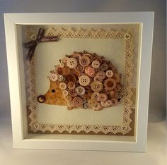 Hedgehog button art by LollipopLaneCreation on Etsy