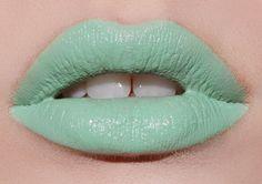 pastel mint green lipstick