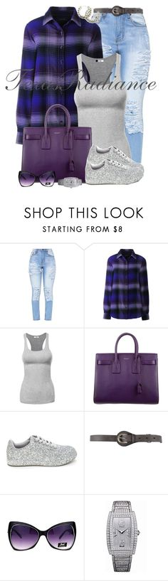 """""""The All-American Rejects- Gives You Hell"""" by texasradiance ❤ liked on Polyvore featuring Lands' End, Yves Saint Laurent, Belstaff and Piaget"""
