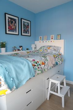 We created a wonderful white mid sleeper bed for our daughter to last well into . - Ikea DIY - The best IKEA hacks all in one place White Mid Sleeper, Mid Sleeper Bed, Ikea Kids, Childrens Cabin Beds, Cabin Beds For Teenagers, Small Childrens Bedroom Ideas, Diy Kallax, Date Photo, Closet Ikea