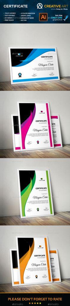 Certificate Template AI Illustrator