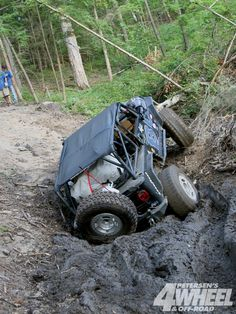 Jeep wrangler rear end in mud
