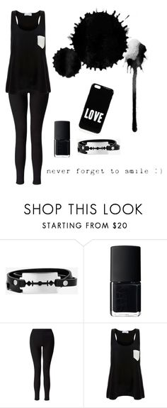 """Black"" by electraz on Polyvore featuring McQ by Alexander McQueen, NARS Cosmetics, Miss Selfridge, Solid & Striped and Givenchy"