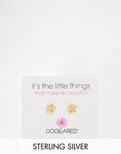 Lækre Dogeared Gold Plated Teeny Flower Stud Earrings - Gold Dogeared ¯reringe til Damer til hverdag og fest