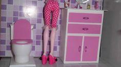 Como fazer um banheiro (balcão e pia) para boneca Monster High, Barbie, ...