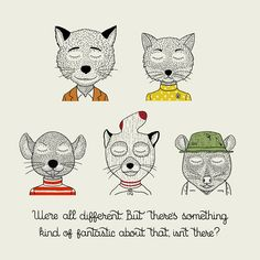 Whimsical Illustrations Featuring Characters From Wes Anderson's Popular Films - DesignTAXI.com