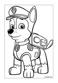 Excellent Picture of Chase Paw Patrol Coloring Page . Chase Paw Patrol Coloring Page Paw Patrol Chase Coloring Page Free Printable Coloring Pages Paw Patrol Coloring Pages, Dog Coloring Page, Coloring Pages To Print, Free Printable Coloring Pages, Coloring For Kids, Coloring Pages For Kids, Coloring Sheets, Coloring Books, Coloring Stuff