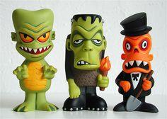 funko spastik plastik figures: gill, karl & luthor | Flickr - Photo Sharing!