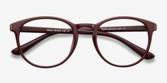 Muse Dark Red Plastic Eyeglasses from EyeBuyDirect. Come and discover these quality glasses at an affordable price. Find your style now with this frame.