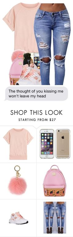 Untitled #502 by baaaditori on Polyvore featuring Current/Elliott, NIKE, MCM, MICHAEL Michael Kors and Speck
