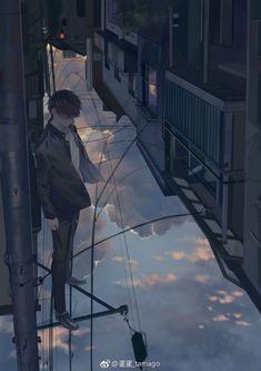 Fashion Illustration Speed Painting with Ink - Drawing On Demand Sad Anime, Anime Love, Anime Art, Aesthetic Art, Aesthetic Anime, Anime Scenery Wallpaper, Handsome Anime Guys, Image Manga, Boy Art