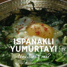 Birer Temel Reis değiliz belki ama  biz de ıspanağı çok seviyoruz :)  Tarif için> http://hayatevde.com/2015/12/15/ispanakli-yumurta-tarifi
