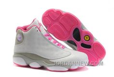 http://www.jordannew.com/womens-nike-air-jordan-13-shoes-white-grey-pink-new-release-pdx4p.html WOMEN'S NIKE AIR JORDAN 13 SHOES WHITE/GREY/PINK NEW RELEASE PDX4P Only $95.93 , Free Shipping!