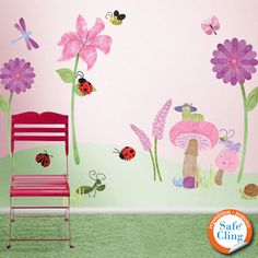 Bugs & Blossoms Wall Sticker Kit
