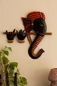 Buy Ecraftindia Bansuri Ganesha Wrought Iron Wall Hanging 43 Cm X 3 Cm X 38 Online At Low Prices In India Amazon In Hanging Wall Art Indian Wall Decor