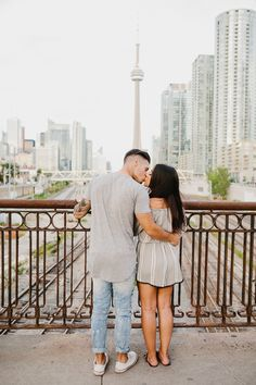 downtown engagement photoshoot in Toronto