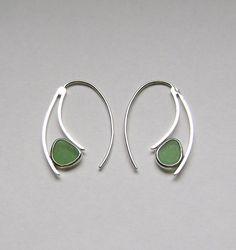 Sea Glass Jewelry  Sterling Green Sea Glass Semi by SignetureLine, $55.00