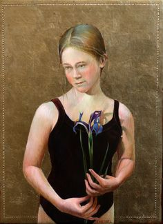 """Molleye- Leotard"" original egg tempera by Fred Wessel available at the R. Michelson Galleries"