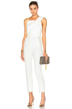 Image 2 of Roland Mouret Ampere Stretch Viscose Jumpsuit in White