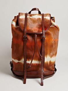 A Tie-dye Cowhide Dries Van Noten Backpack Fall 2013 • Selectism
