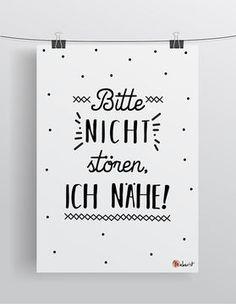 Bitte nicht stören, ich nähe - Poster via Makerist.de