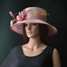 f4175c4e6f7 Red black big brim sinamay hat Formal dress Hat church hat for Kentucky  derby