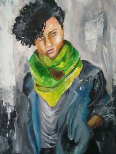 Mais uma pintura óleo.