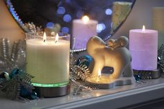 GloLite by PartyLite brings to you a great  range of products...... Scented Jar Candle, Colour-Changing Candle Base, Mother's Joy Tealight Holder and 3-piece Pillar Garden !