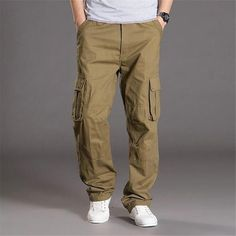 Men's Cargo Pants Cotton Arrival Cargo Pants Men Baggy overalls men with long trousers big yard casual trousers