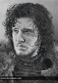 """Photo Realistic Film & TV Series Drawing by Daniela Wolf Svera like """"24"""", Game Of Thrones, Terminator  Salvation, The Walking Dead, Sons Of Anarchy. More information and more images from this Artist, Press the Image."""