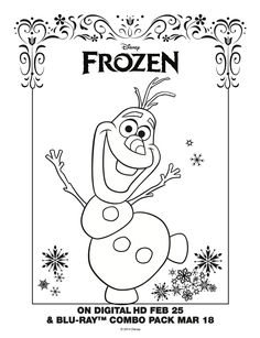 Olaf Coloring Sheet! #Frozen